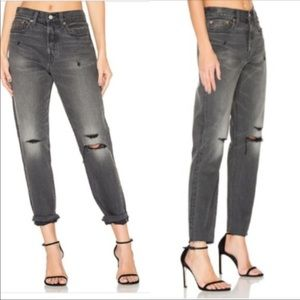Levi's Distressed Wedgie High Rise Waisted Jeans